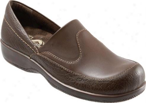 Softwalk Menifee (women's) - Dark Brown Rustic Tumbled/soft Calf/stretch