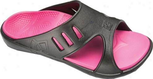 Spenco Fuzion (women's) - Black/hot Pink