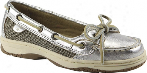 Sperry Top-sider Angelfish (infant Girls') - Silver Metallic Leather