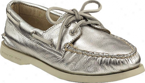 Sperry Top-sider A/o 2-eye (women's) - Silver