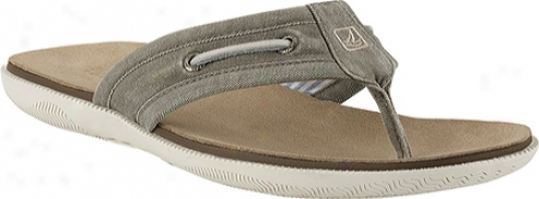 Sperry Top-sider A/o Thong (men's) - Olive Salt Washed Canvas