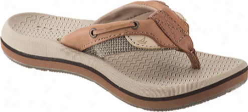 Sperry Top-sider Bluefish Thong (children's) - Linen/oat Leather