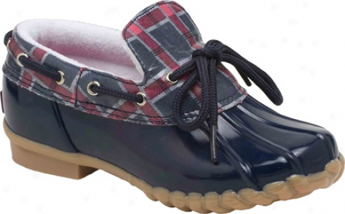 Sperry Top-sider Duckie (girls') - Navy/plaid Rubber