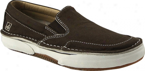 Sperry Top-sider Largo Slip On (boys') - Chocolate/camo Washed Canvas