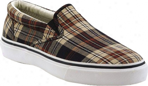 Sperry Top-sider Striper Slip On (men's) - Navy/white Plaid