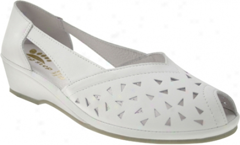 Spring Step Bow (women's) - White Leather