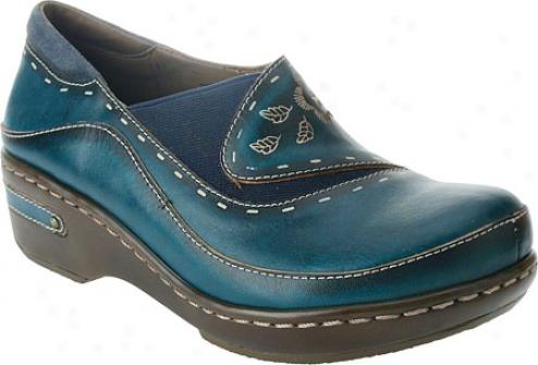 Spring Step Burbank (women's) - Blue Leather