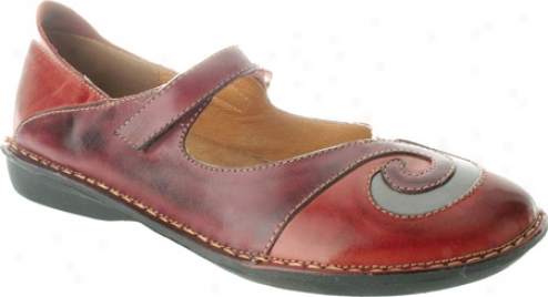 Spring Step Cosmic (women's) - Red/winr Combo Leather