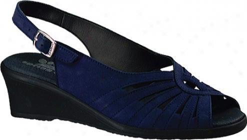 Spring Step Gail (women's) - Blue Nubuck