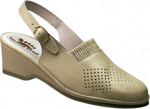 Spring Step Gina (women's) - Beige Leather