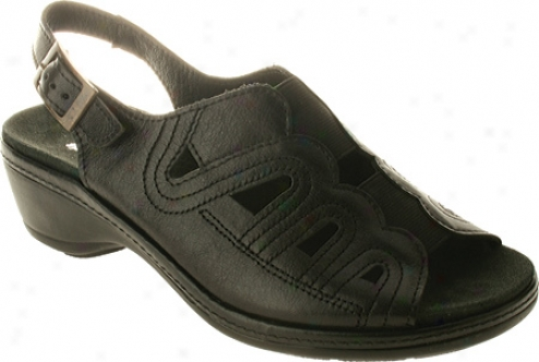 Spring Step Sentiment (women's) - Black Leather