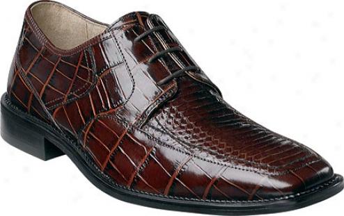 Stacy Adams Barnett 24568 (men's) - Brown Snake Print Leather