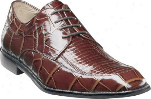 Stacy Adams Carrara 24642 (men's) - Cognac Snakeskin/croco Print Leather