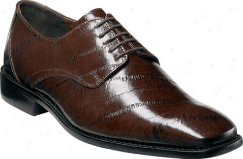 Stacy Adams Mateo 24598 (men's) - Brown Eelskin Print Leather