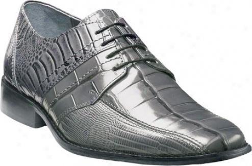 Stacy Adams Pietro 24675 (men's) - Grey Crocodile/llzard/ostrich Leg Print