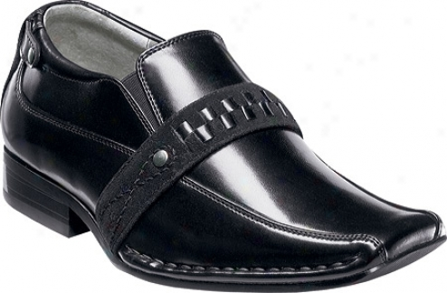 Stacy Adams Taurin 43289 (boys') - Black Smooth Leather