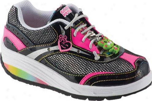 Stride Rit eGlitzy Pets Glamorous (girls') - Blacm/neon Pink Leather/mesh