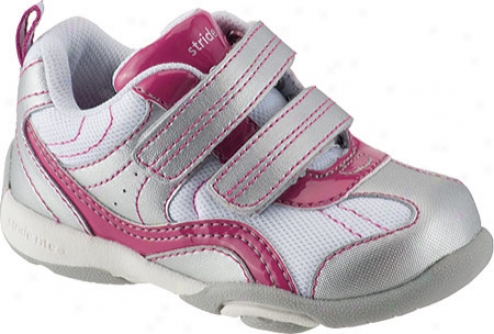 Stride Rite Lilo (infant Girls') - Jam/silver/white Leather/mesh
