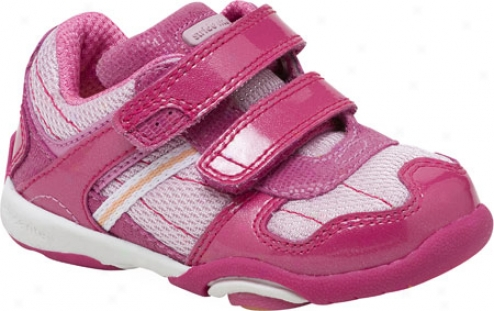Stride Rite Nms Shawna (infant Girls') - Pink/apricot Patent Leather/mesh