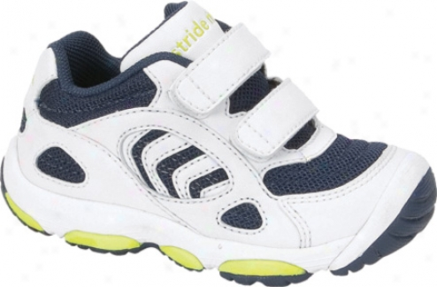 Stride Rite Play Zone H&l Stage 3 (infant Boys') - White/navy Leather/mesh
