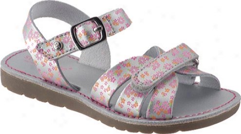 Stride Rite Sammy (girls') - Silver/print Leather