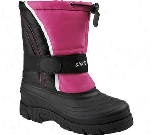 Stride Rite Snow Squall (girls') - Black/pink Nylon
