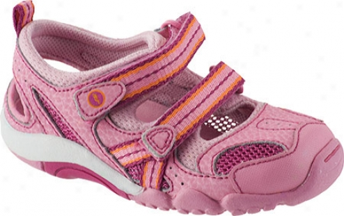 Stride Rite Srt Danielle (infant Girls') - Pink/grey Leather/mesh