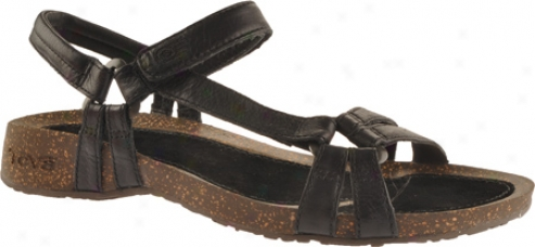 Teva Ventura Cork 2 Leather (women's) - Black