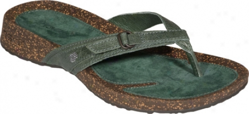 Teva Ventura Thong Leather (women's) - Celadon