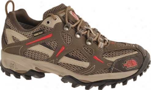 The North Face Hedgehog Gtx Xcr (women's) - Classic Khaki/chrysanthemum Red