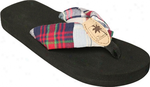 Tidewater Sandals Claire Madras (women's) - Blue/red/green
