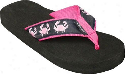Tidewater Sandals Crab (women's) - Navy/pink