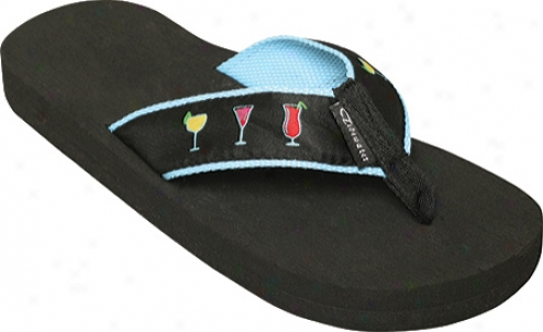Tidewater Sandals Happy Sixty minutes (women's) - Black/blue/pink/yellow
