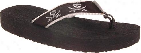 Tidewater Sandals Pirates (infwnts') - Black/white