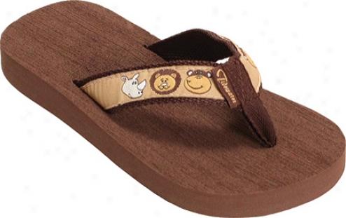 Tidewwter Sandals Zoo Buddies (infants') - Brown/tan/white
