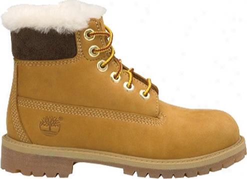 """timberland 6"""" Classic Shearling Boot (infants') - Wheat Nubuck"""