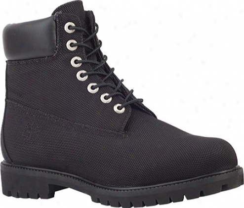 """timberland 6"""" Premium Fabric (men's) - Black Fabric"""
