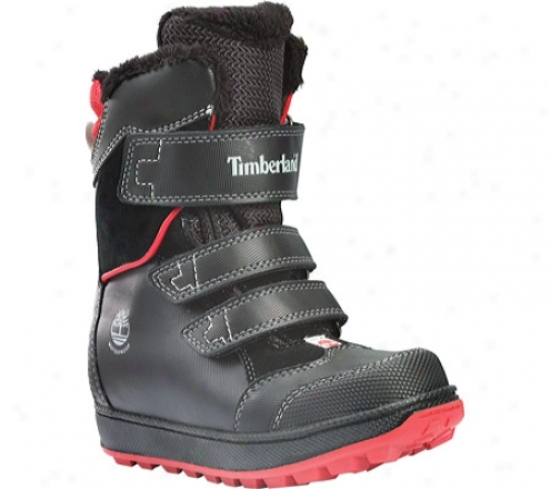 Timberland Alpine Adventure Waterproof_Snow Boot (children's) - Black/red Leather