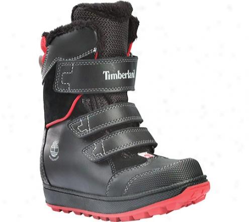 Timberland Alpine Adventure Waterproof Snow Boot (infants') - Black/red Leather