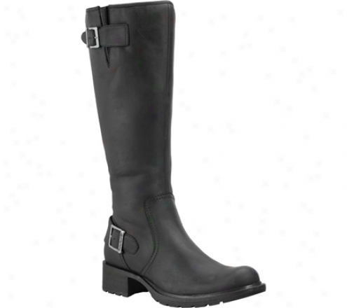 Timberland Charles Street Lexiss Waterproof Tall (women's) - Black Smooth