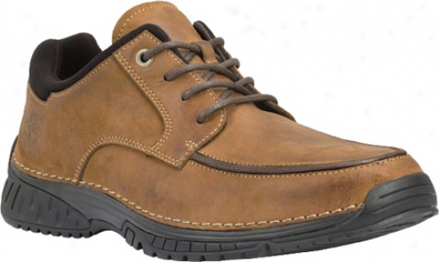 Timberland City Adventure City Patience Moc Toe Ox (men's) - Burnished Red Brown Nubuck