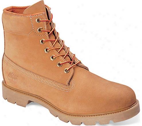 """timberland Classic 6"""" Basic Boot (men's) - Wheat Nubuck Leather"""