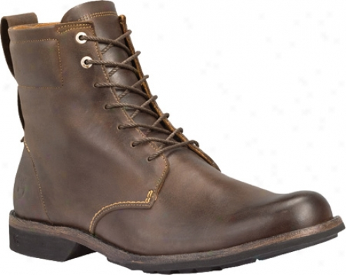 """timberland Earthkeeppers City 6"""" Lace-up Boot (men's) - Burnished Brown/black Full Grain Leather"""