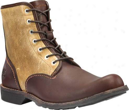 """timberland Earthkeepers City 6"""" Plain Toe Side-zip (men's) - Brown Full Grain/waxed Wheat Suede"""