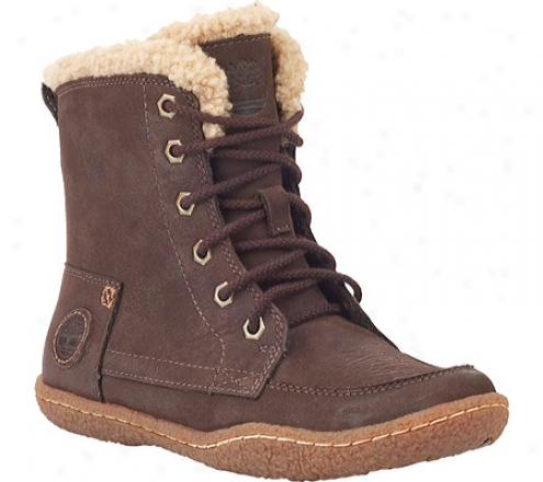 Timberland Earthkeepers Grafton Hill Lace-up Profit (girls') - Dark Brown Burnish Full Grain Leather