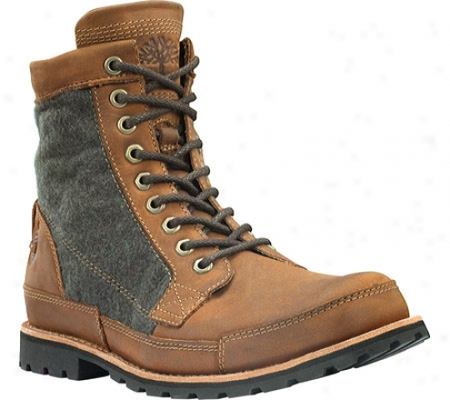 """timberland Earthkeepers Original Classic 6"""" Warm Lined (men's) - Red Brown Burnished Nubuck"""