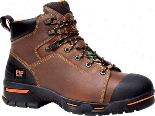 """timberland Endurance Pr 6"""" Waterproof Steel Toe (men's) - Rancher Brown Full Grain Leather"""