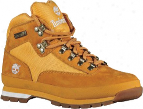 Timberland Euro Hiker Leather And Building (men's)  -Wheat/white Full Grain Leather