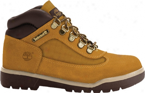 Timberland Field Boot Lezther (boys') - Wheat Scuffproof