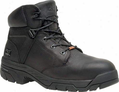 """timberland Helix Waterproof 6"""" Composits Toe (men's )- Black Full Dye Leather"""
